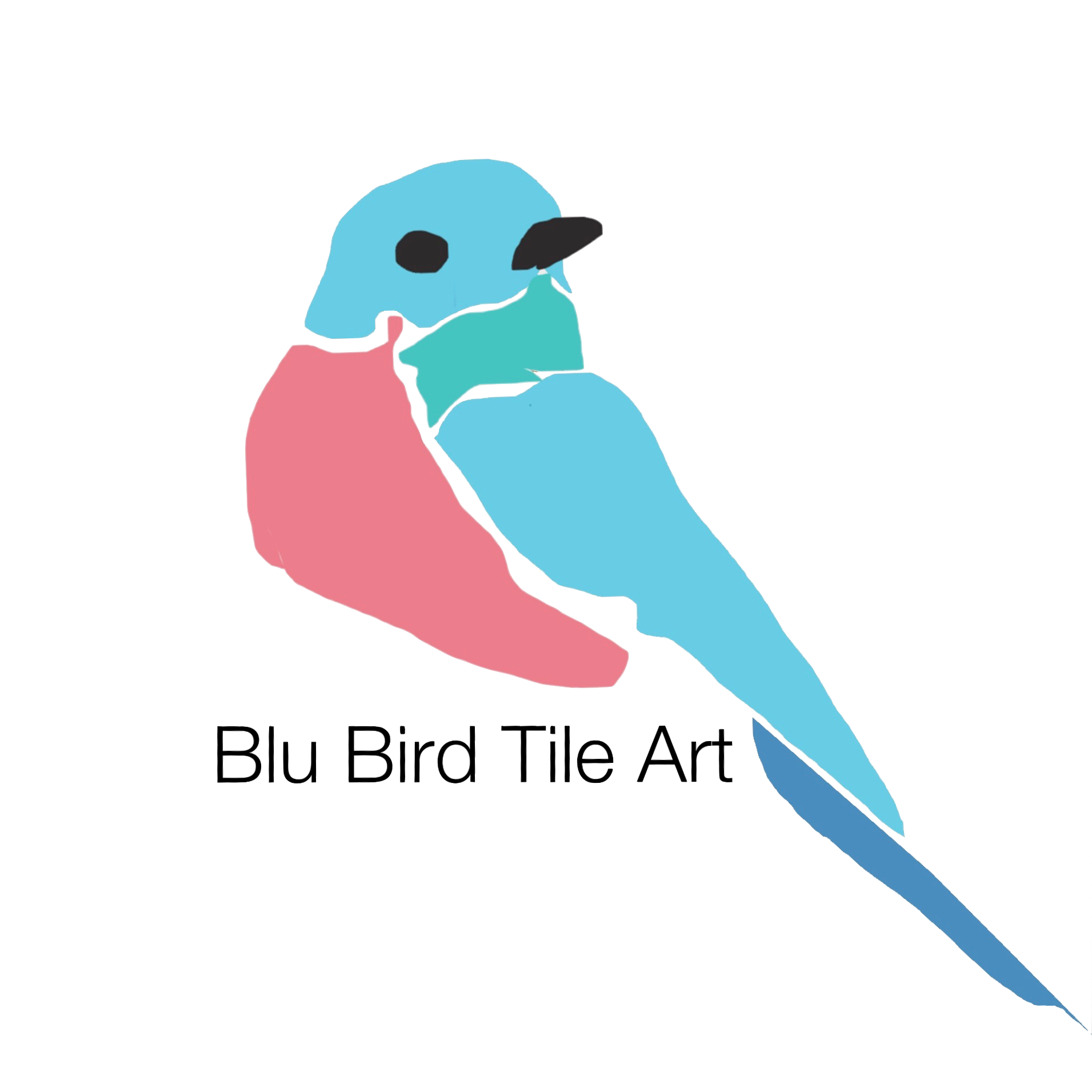 Blu Bird Tile Art